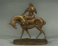 equestrienne [lf 22], (amazone, woman on horseback) by gaston lachaise